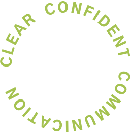 Clear Confident Communication (displayed in a ring)