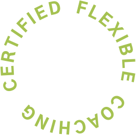 Certified Flexible Coaching (displayed in a ring)